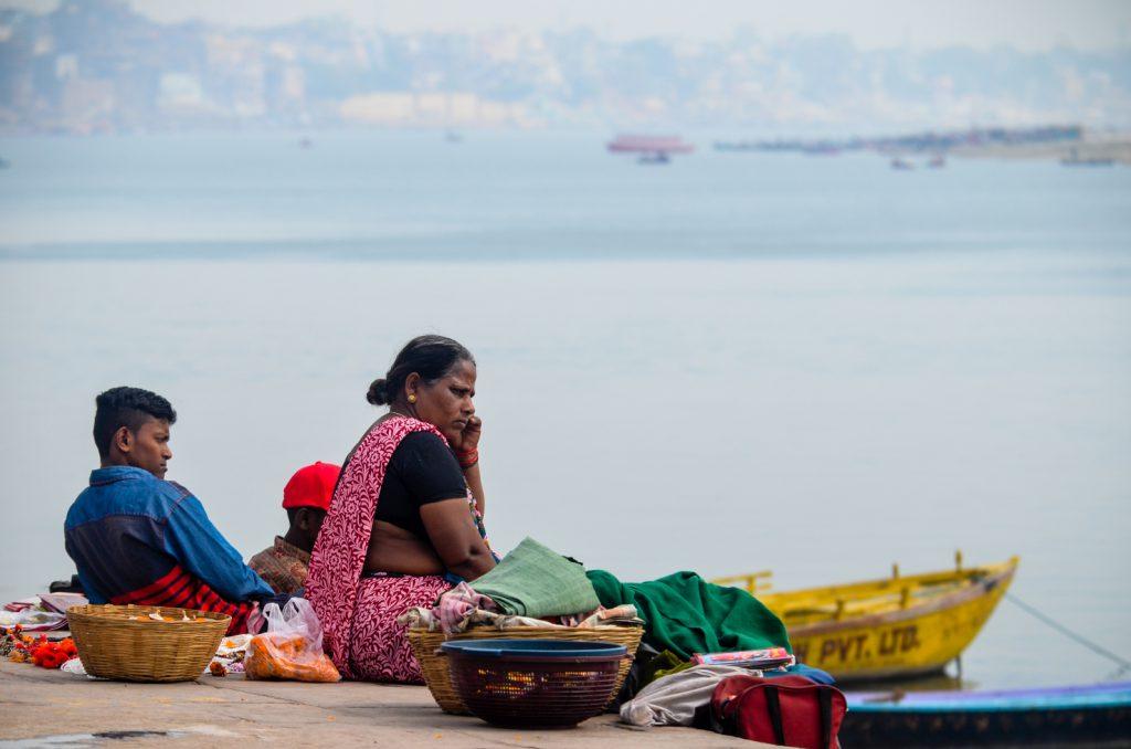Flower Vendors on the Ganges Banks