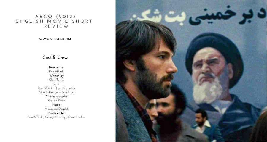Argo 2012 English Movie Short Review Veeyen Unplugged